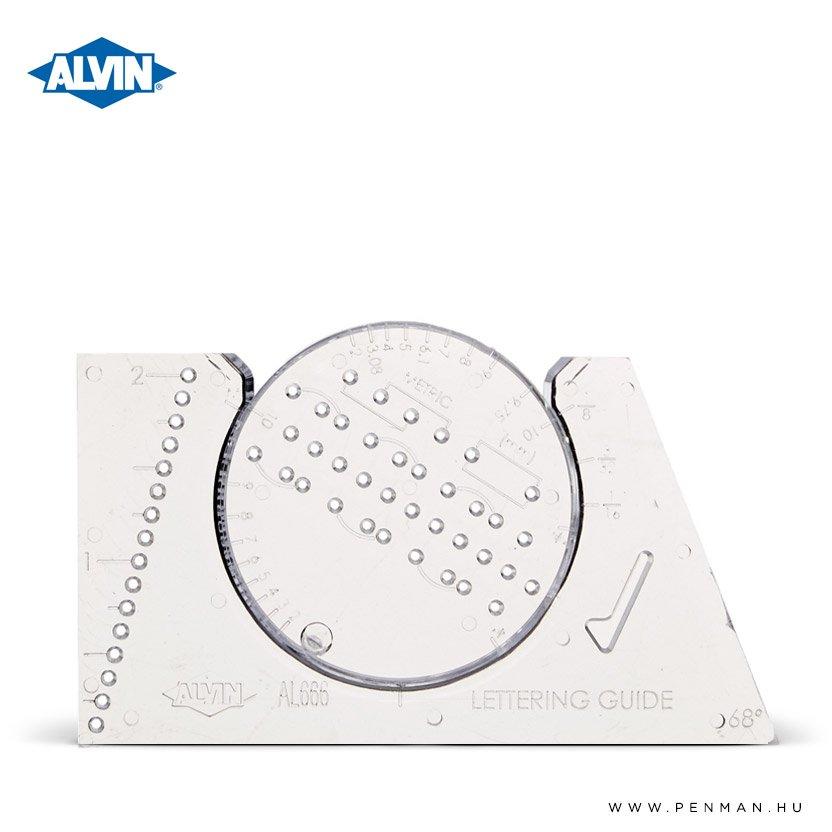 alvin lettering guide penman