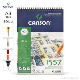 canson 1557 papir a3 30lap 180g rs finom