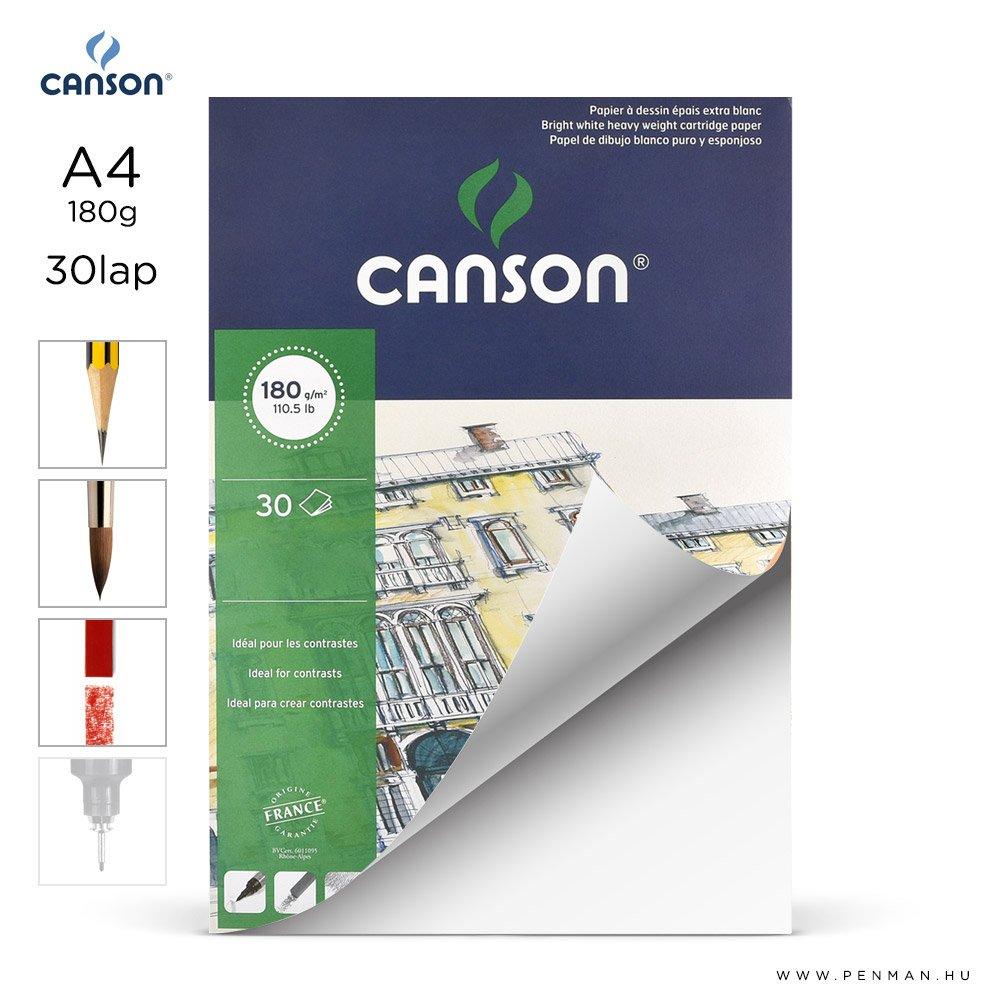 canson 1557 papir a4 30lap 180g rr finom lap