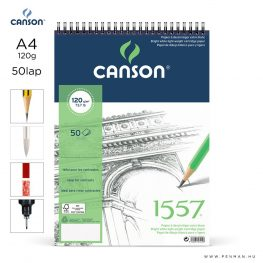 canson 1557 papir a4 50lap 120g rs finom