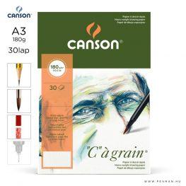 canson cagrain papir a3 30lap 180g rr finom
