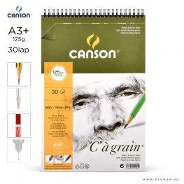 canson cagrain papir a3plus 30lap 125g rs finom