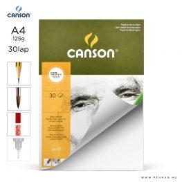 canson cagrain papir a4 30lap 125g rr finom lap