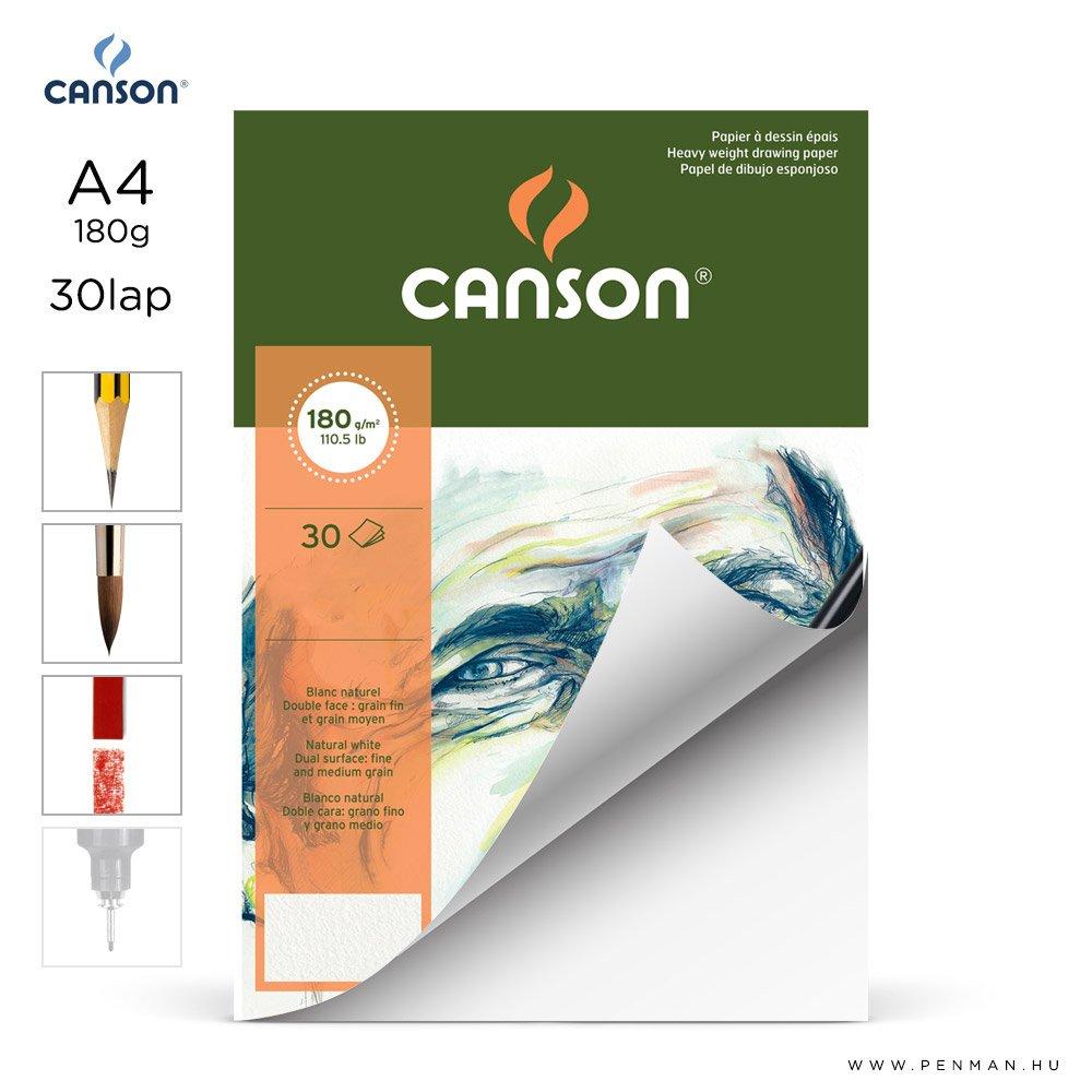 canson cagrain papir a4 30lap 180g rr finom lap