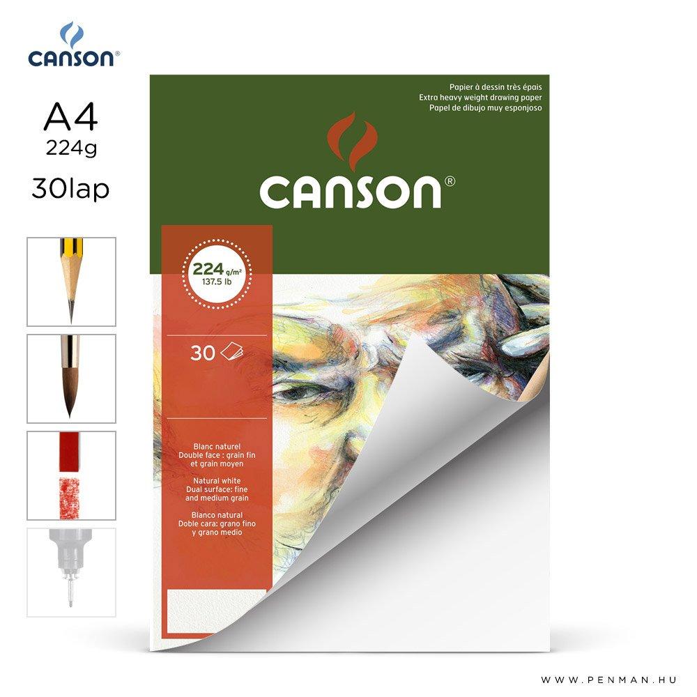 canson cagrain papir a4 30lap 224g rr finom lap