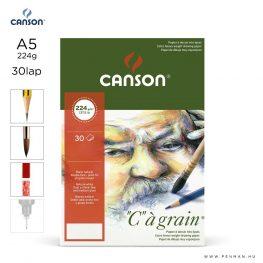canson cagrain papir a5 30lap 224g rr finom