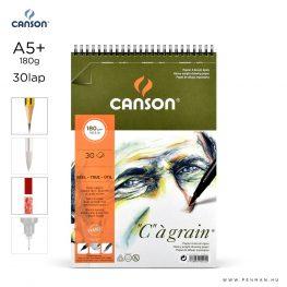 canson cagrain papir a5plus 30lap 180g rs finom