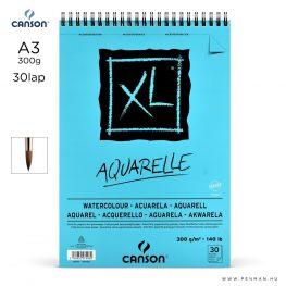 canson xl aquarelle papir a3 30lap 300g rs finom