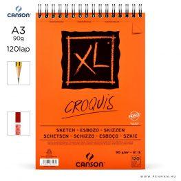 canson xl croquis papir a3 120lap 90g rs finom
