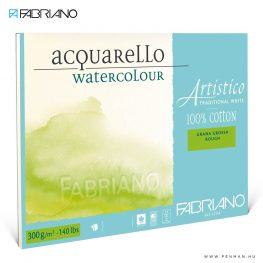 fabriano artistico traditional white akvarell papir rough