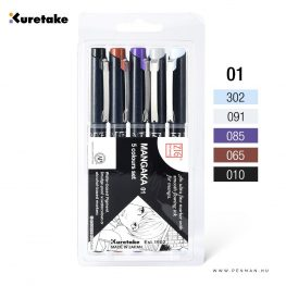kuretake zig 5 colours set 001