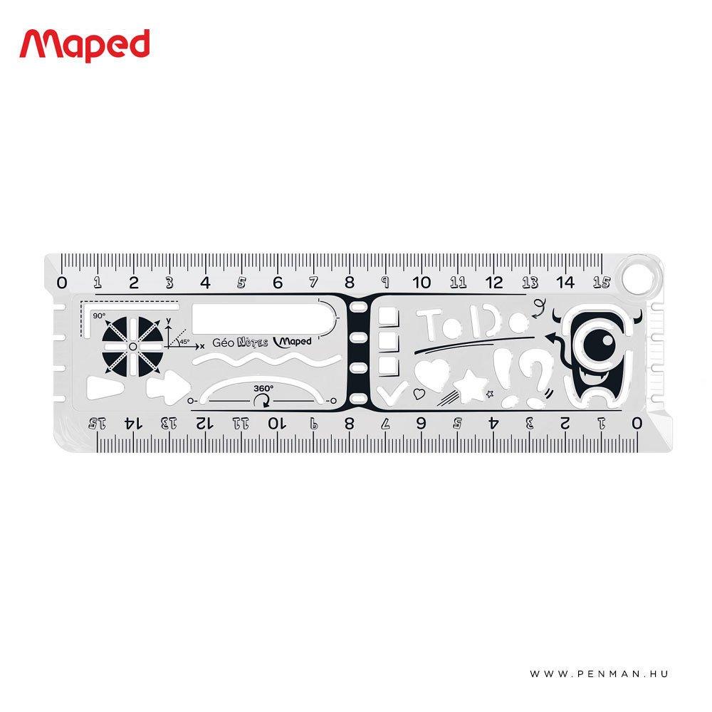 maped geo notes vonalzo 15cm 1001