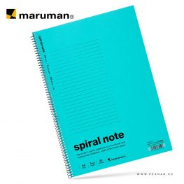 maruman spiral note A4 lined light blue 30lap penman