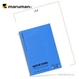 maruman spiral note A5 lined blue 30lap penman