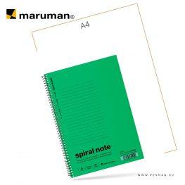 maruman spiral note A5 lined green 30lap penman
