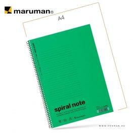 maruman spiral note B5 lined green 30lap penman