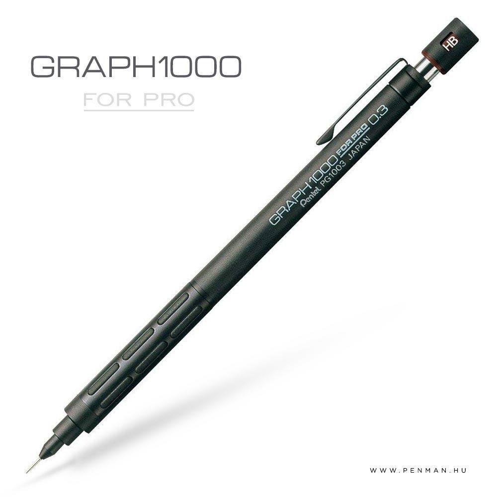 pentel graph1000 forpro 03 black penman