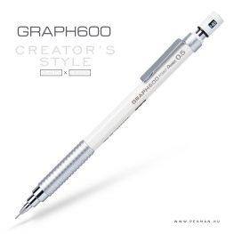 pentel graph600 05 white penman