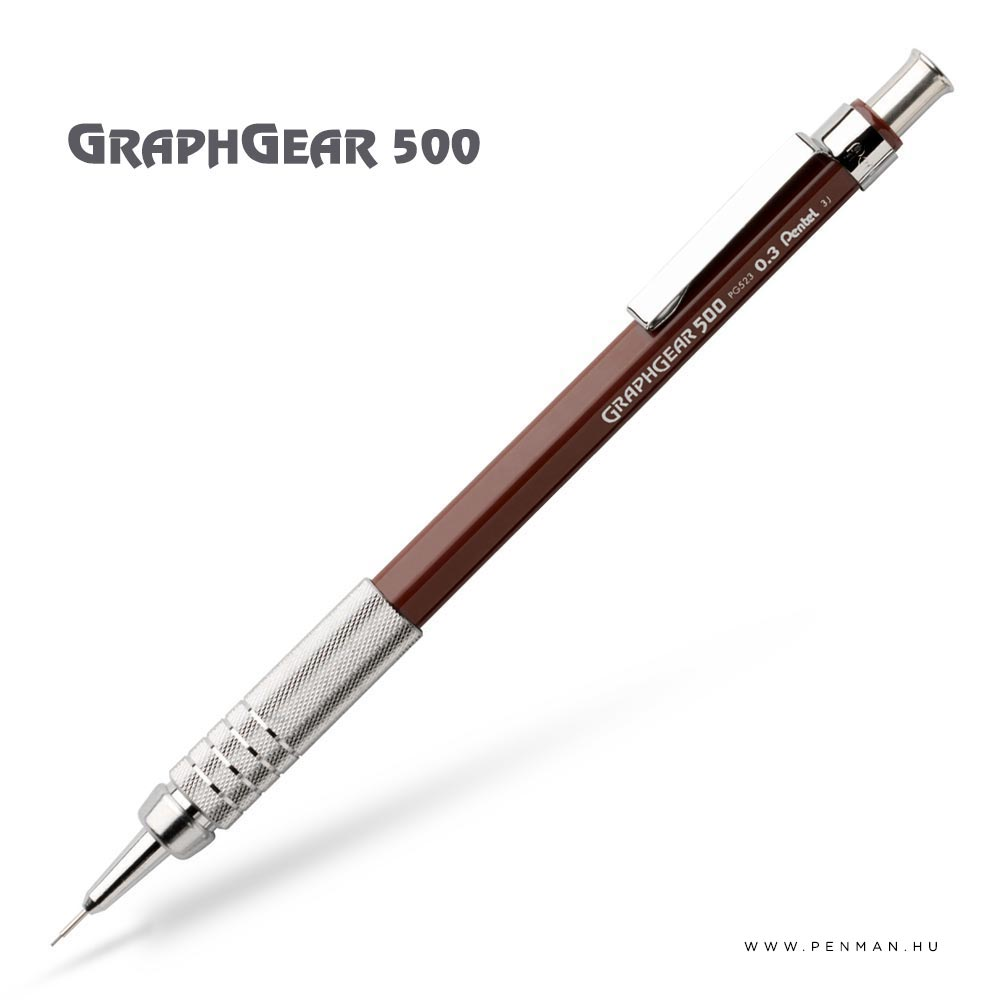 pentel graphgear500 03 brown penman