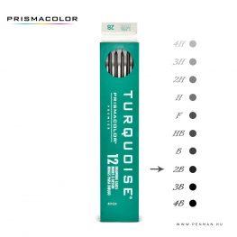prismacolor turquoise 2mm grafit 2b penman