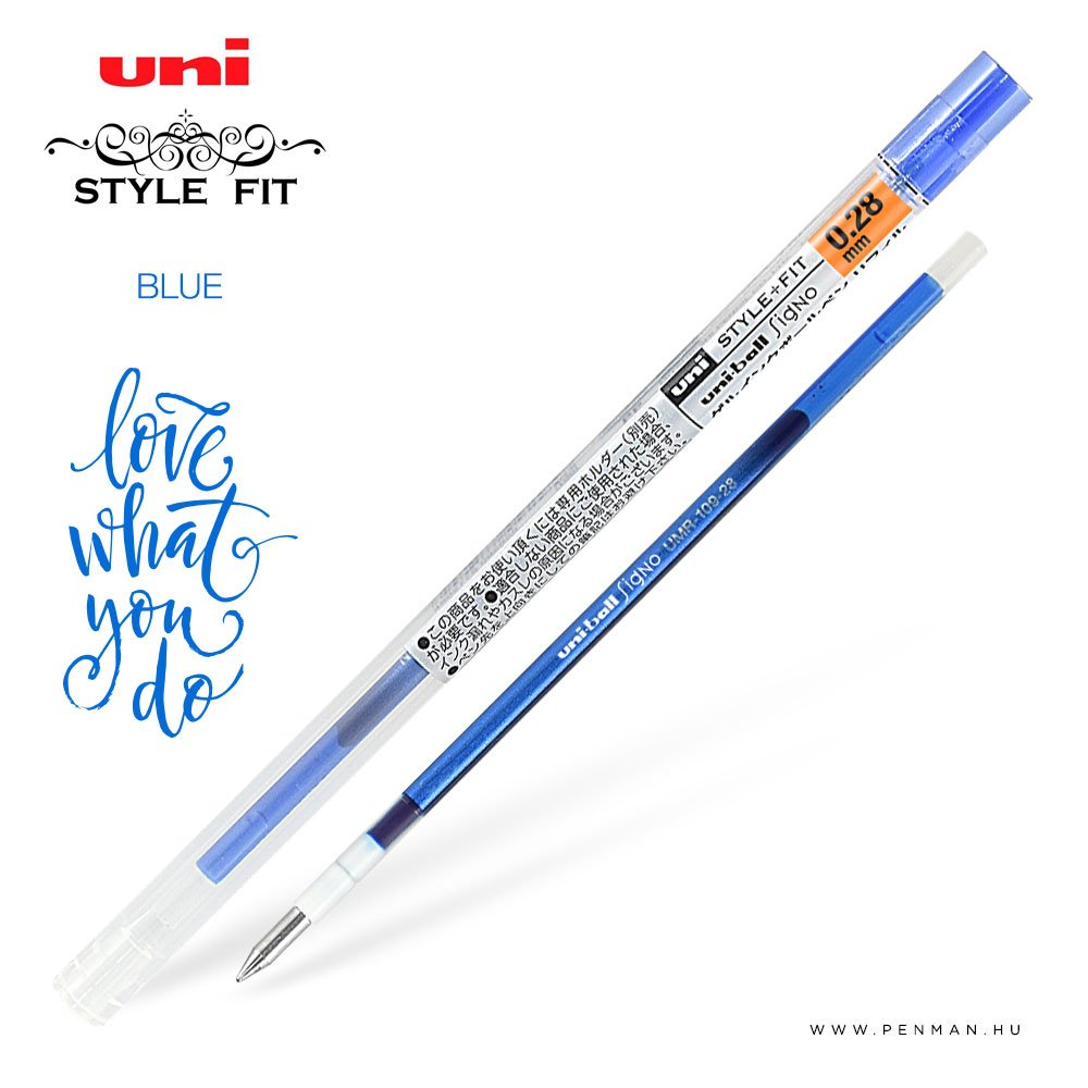 uni style fit 028 refill blue