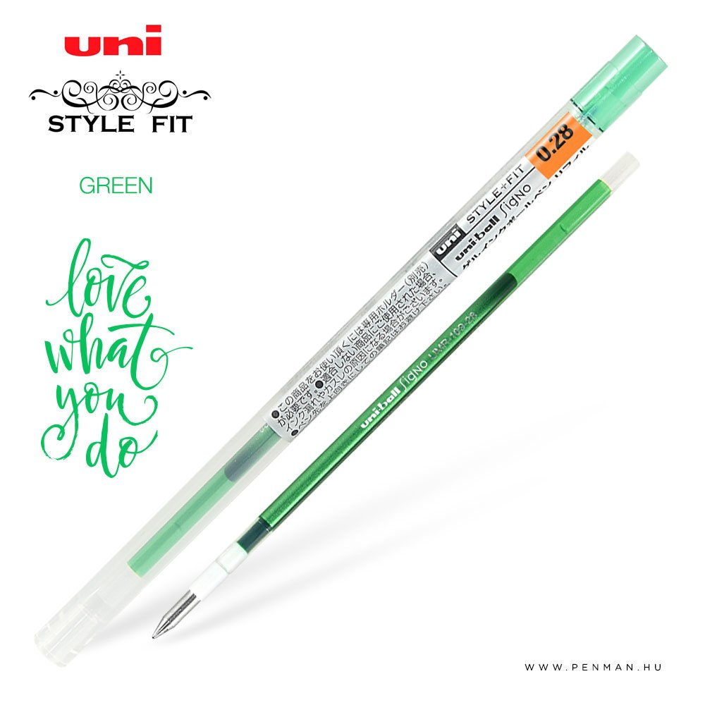 uni style fit 028 refill green