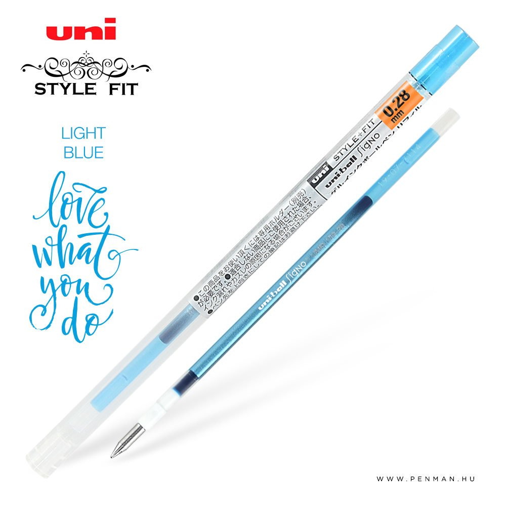 uni style fit 028 refill light blue