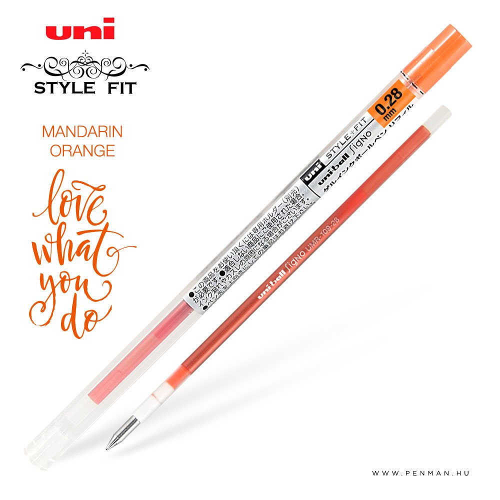 uni style fit 028 refill mandarin orange