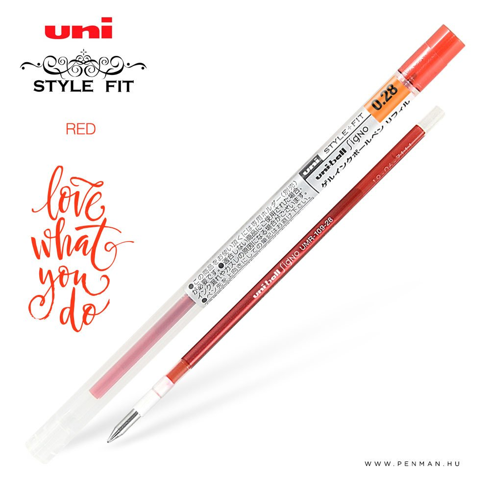 uni style fit 028 refill red