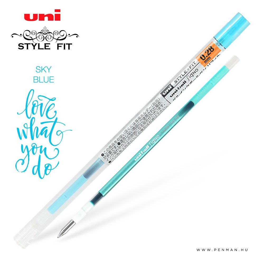 uni style fit 028 refill sky blue