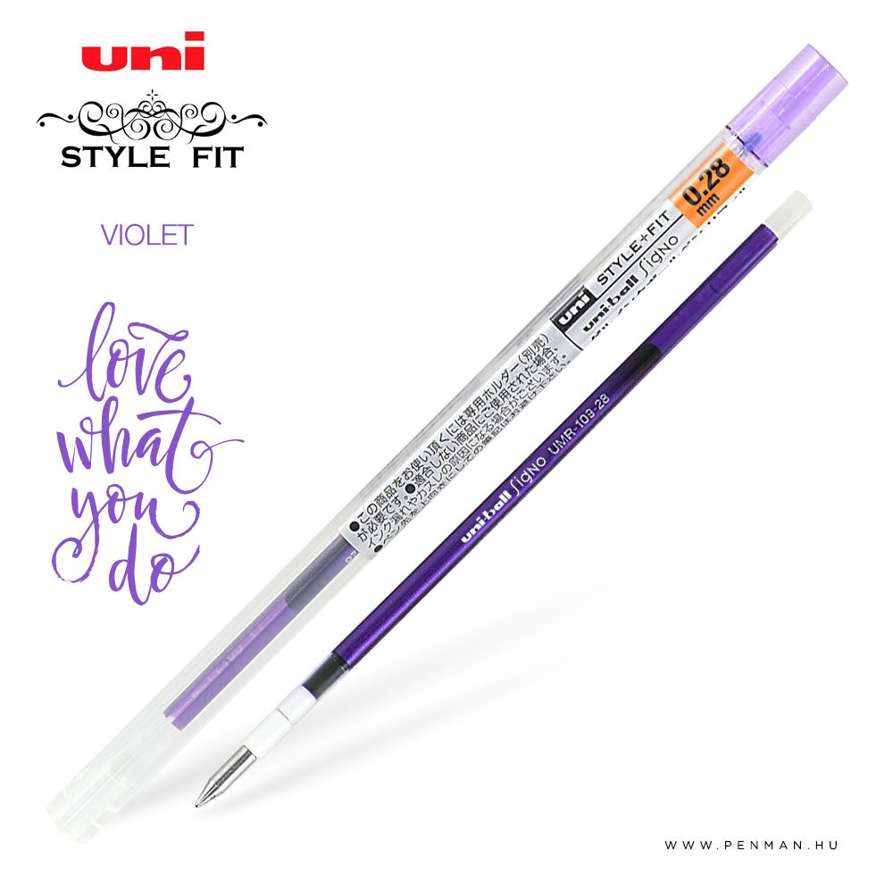uni style fit 028 refill violet